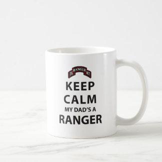 KEEP CALM MY DAD'S A RANGER COFFEE MUGS