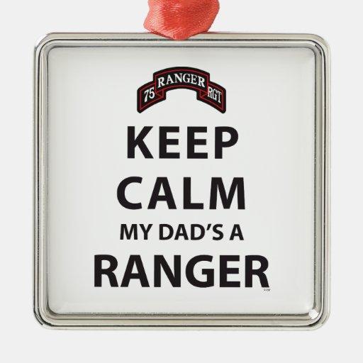 KEEP CALM MY DAD'S A RANGER ORNAMENTS
