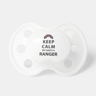 KEEP CALM MY DAD'S A RANGER PACIFIER