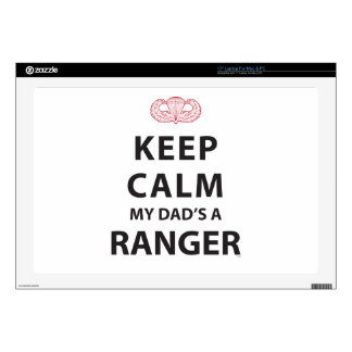 KEEP CALM MY DAD'S A RANGER SKIN FOR LAPTOP
