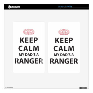 KEEP CALM MY DAD'S A RANGER DECALS FOR KINDLE FIRE