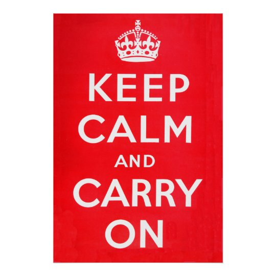 Keep Calm - National Archives Poster