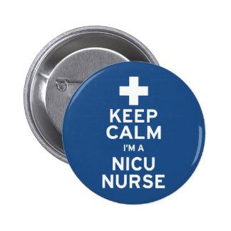 Keep Calm NICU Nurse Pinback Button