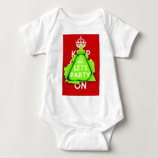 KEEP CALM? No way, Lets Party, it's Christmas Baby Bodysuit