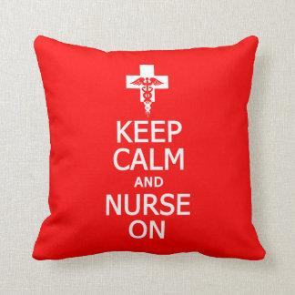 Keep Calm & Nurse On custom pillow