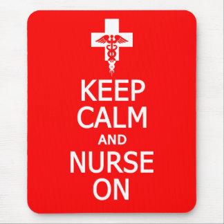 Keep Calm Nurse On mousepad