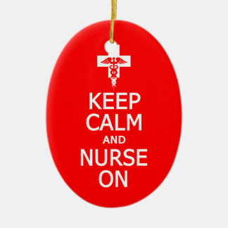 Keep Calm Nurse On ornament customize