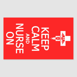 Keep Calm Nurse On stickers
