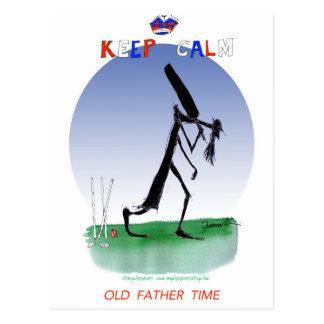 keep calm old father time, tony fernandes postcard