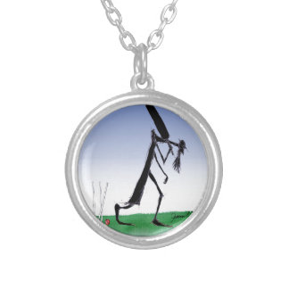keep calm old father time, tony fernandes silver plated necklace