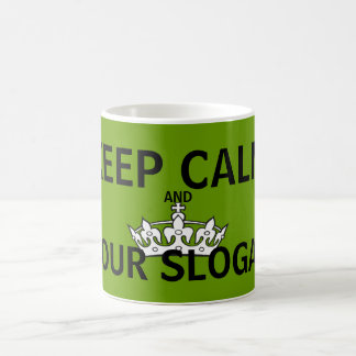 Keep Calm Olive Green Coffee Mug
