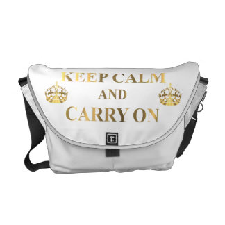 Keep calm on any color courier bag