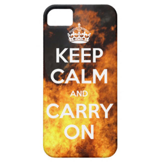 Keep Calm On Fire iPhone 5 Case