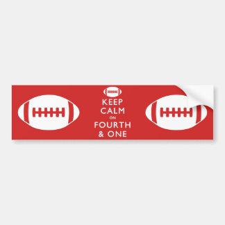 Keep Calm on Fourth and One Car Bumper Sticker