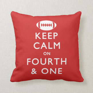Keep Calm on Fourth and One Throw Pillow