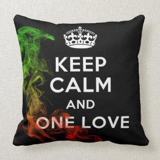 Keep Calm & One Love Pillow