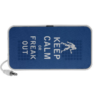 Keep Calm or Freak Out Laptop Speakers
