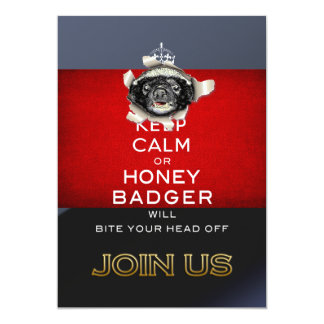 Keep Calm, or Honey Badger… Card