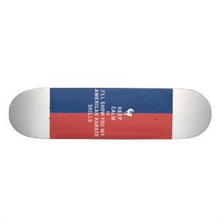 Keep Calm or i'll Show You My American Karate Skil Skate Board Deck