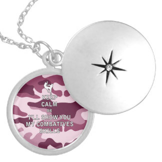 Keep Calm or i'll Show You My Combatives Skills Lockets