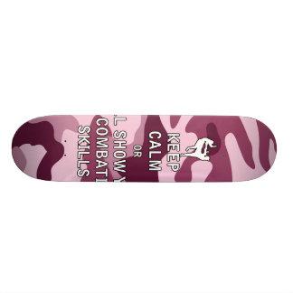 Keep Calm or i'll Show You My Combatives Skills Skateboard