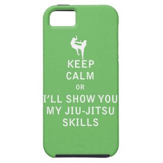 Keep Calm or i'll Show You My JiuJitsu Skills iPhone 5 Covers