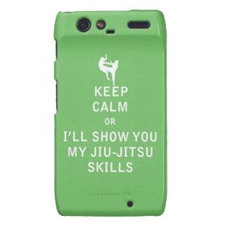 Keep Calm or i'll Show You My JiuJitsu Skills Droid RAZR Case