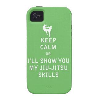 Keep Calm or i'll Show You My JiuJitsu Skills Case-Mate iPhone 4 Case