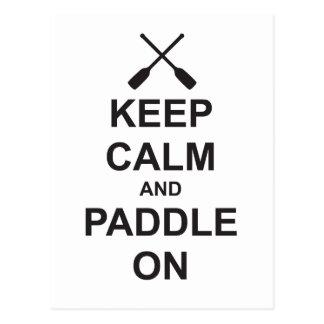 Keep Calm & Paddle On Postcard