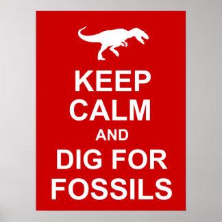 Keep Calm Paleontology Poster