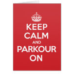 Keep Calm Parkour Greeting Note Card