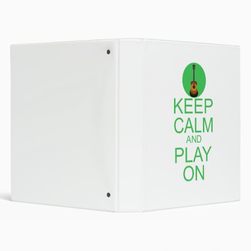 Keep Calm Parody Guitar Binder