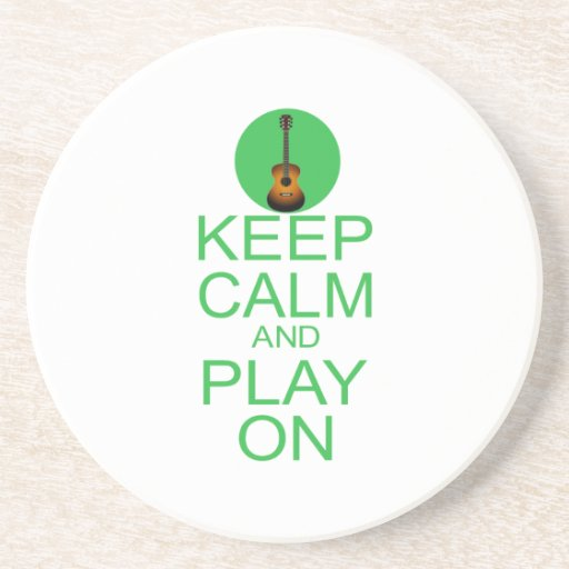 Keep Calm Parody Guitar Drink Coasters Zazzle