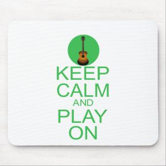 Keep Calm Parody Guitar Mouse Pad
