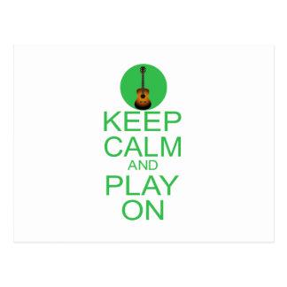 Keep Calm Parody Guitar Postcards