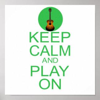 Keep Calm Parody Guitar Poster