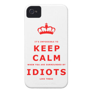 Keep Calm Parody - Surrounded by Idiots iPhone 4 iPhone 4 Cover