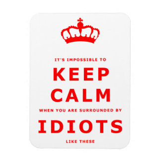 Keep Calm Parody - Surrounded by Idiots Magnet 2