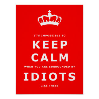 Keep Calm Parody - Surrounded by Idiots Poster