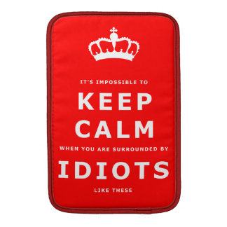 Keep Calm Parody - Surrounded by Idiots Sleeve