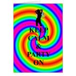 Keep calm & party on card
