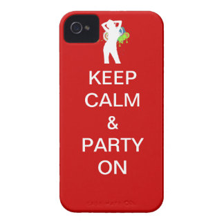 Keep calm party on iPhone 4 Case-Mate cases