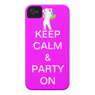 keep calm & party on iPhone 4 cover