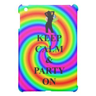 Keep calm & party on iPad mini cover