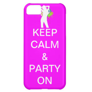 keep calm & party on iPhone 5C case