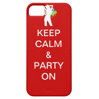Keep calm & party on iPhone SE/5/5s case
