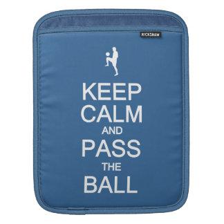 Keep Calm & Pass the Ball custom color iPad sleeve