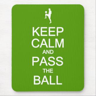 Keep Calm & Pass The Ball mousepad