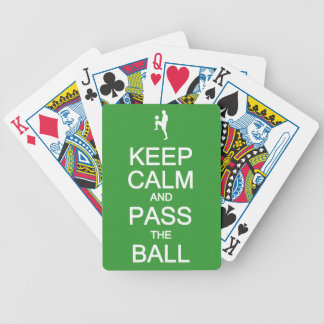 Keep Calm & Pass The Ball playing cards