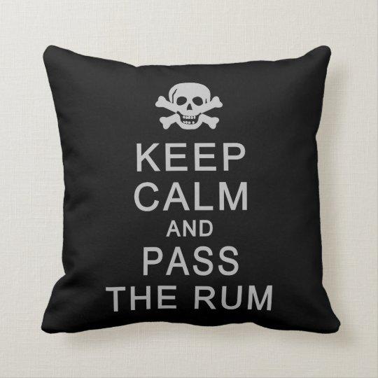 Keep Calm & Pass The Rum custom pillow
